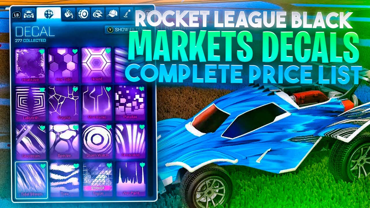 rocket league black market decals complete price list